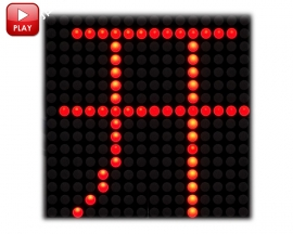 16x16 LED Lattice Module Dot Matrix Subtitle Text Display HT1632C 3.75mm Red