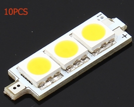 10pcs 9V 5050 Square Warm White SMD LEDs Lamp Beads Pale Yellow