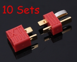 10 sets Female And Male Kit Antislip Deans Style-T Plug Connector For RC Heli Battery ESC