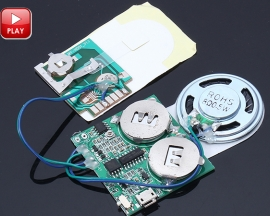 DIY Chargeable Volume Adjusting Music Sound Module 4M Memory for Greeting Cards Birthday Gift