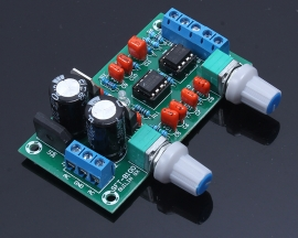 22Hz-210Hz Low Pass Filter Preamp Board Module With LED Indicator Light