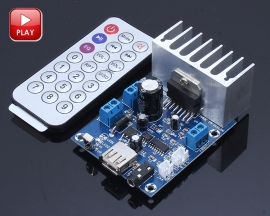TDA7297 15W+15W Dual Channel Audio Amplifier Board Module WAV MP3 Decoder with Remote Controller