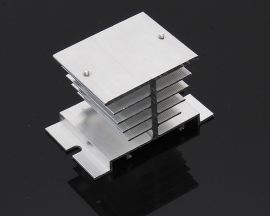 60*50*50mm White Heat Sink For SSR Single Phase Solid State Relay