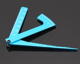 Aluminum Alloy Camber Adjustable Ruler For RC Car Height & Wheel Rim Measuring Tool