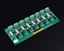 MCU TTL Level Testing AC 220V 8-Channel Optocoupler Isolation Testing Board PLC Processors