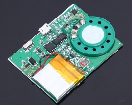 4M 4.2V 8ohm 1W Light Sensor Recordable Module Music Sound Voice Chip Board For Greeting Card