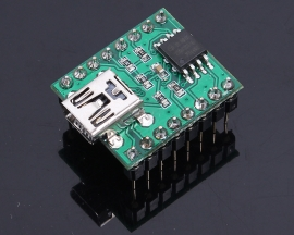 DC 5V 20-250MA 18*23mm Key Serial Control USB Interface SPI FLASH