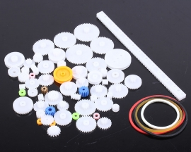 60Kinds Kits Plastic Gears Pulley Module 0.5 Robot Parts DIY Necessary Model Toy