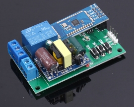 DC 5V 1-Channel Bluetooth Control Relay Module TTL Serial Port Interface Cycle Timier With Power