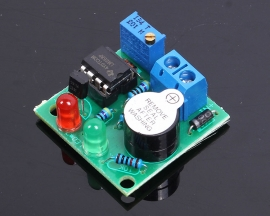 12V On-Board Lipo Battery Low Voltage Alarm Buzzer Under Vlotage Protection Module
