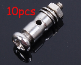 10pcs Rod Regulator Steel Wire Connection For KT Board Airplane Model With Screw Lock