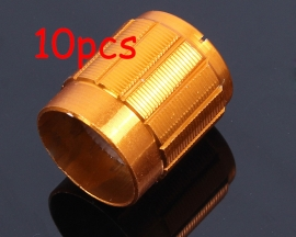 10pcs Golden Potentiometer Knob For Voice Adjustment Rotary Switch 15*16.5mm