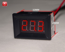 "0.36Inch Red 3 Bits LED Digital Display Thermometer 0.36"" Temperature Meter with Waterproof NTC Sensor Probe -20~100℃"