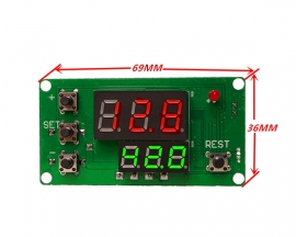 Double LED Digital Display Multifunction Relay Module For Cylce Timing Delay DC 12V