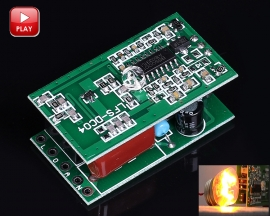 2.7GHz Microwave Radar Motion Sensor Switch Module 220V 360 Degree 5-8m Adjustable Sensing Distance Delay Time