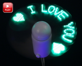 Green LED Light Mini USB Fan Programmable DIY USB Fan