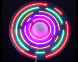 Colorful LED Light Fan Cooling w/ Luminous DIY Fan USB Interface