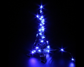 Blue USB Copper Wire LED Fairy Light String Decorations For Party