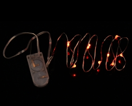 Red Copper Wire Highlight String Light 3V For Christmas Tree Decorations