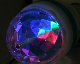 E27 Colorful RGB LED Crystal Magic Ball Lamp Rotating Stage Light 3W 90-250V For Disco DJ
