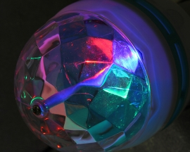 E27 Colorful RGB LED Crystal Magic Ball Lamp Rotating Stage Light Sound Control For Disco DJ