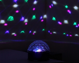 Crystal Magic Ball Stage Lights LED Celling RGB Rotating Lamp For Party Disco DJ