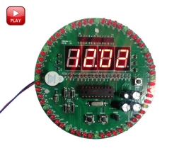 60s Rotary Electronic Clock DIY Kit 60s Rotate Digital Clock Training Teaching Experiment DIY Kits
