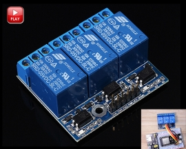 3 Channel DC 3.3V 5V Relay Module Relay Expansion Board with Optocoupler Insulation for Arduino