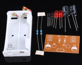 Flash Circuit Multivibrator DIY Welding Kit Electronic Teaching DIY Kit