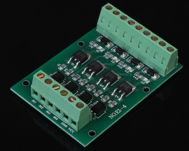 4-Channel Field-Effect Tube Module NMOS FR1205 DC 5-24V with Optocoupler Isolation
