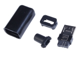 10pcs Black Micro USB Male Pin Micro Interface 5P Welded-Type For Industrial Control(Min 2pcs)