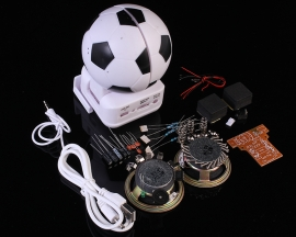 Mini Active Loudspeaker Suite Football Shape For DIY Kit Experimental Teaching Kit