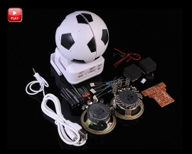 Mini Active Loudspeaker Suite Football Shape DIY Module for Funny DIY Kit Experimental Teaching Kit