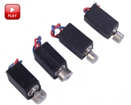 10PCS 4x8mm Micro Vibrator Motors Tiny Phone Vibrating Motors 1-3V 5400RPM 60mA with Wire