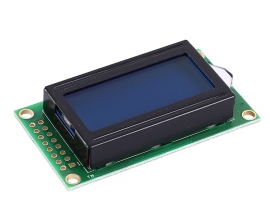 DC 3.3V LCD0802 LCD Display Module White Character Blue Background Dot Matrix 08x02 Screen SPLC780C Driver