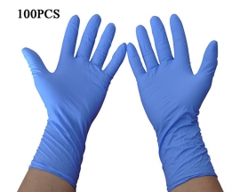 100PCS Disposable Nitrile Gloves Non-Sterile Healthcare Food Handling Use Safety Guantes Virus Disposable Gloves Blue