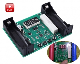Battery Capacity Tester mAh mWh for 18650 Lithium Battery Voltage Discharge Capacity and Discharge Energy