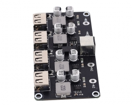 4Bit USB DC-DC Step Down Power Supply Module Buck QC2.0 QC3.0 Charger Module 24W 4-Channel Voltage Converter