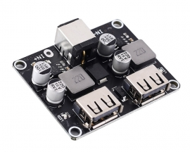 DC-DC Step Down Power Supply Module Buck QC2.0 QC3.0 Charger Module 24W 2-Channel Voltage Converter