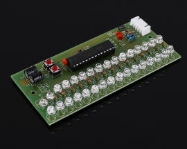 DC 5V 12V Blue LED Voice Sensor Audio Spectrum Display Module Two-channel Input