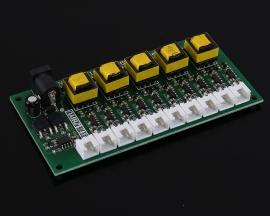DC-DC 12V to 5V 70mA Step Down Isolated Power Supply Module 10-Channel Buck Converter with 10pcs XH2.54-2P 30cm Wire