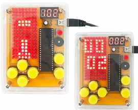 DIY Kit Game Kit Red LED Display Module Creative Electronics Experiment Kit for Tetris/Snake/Plane/Racing/Fruit Slot