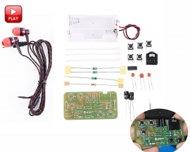 DIY Kit FM Stereo Radio Module with Headset Adjustable 76-108MHz Wireless Receiver DC 3V