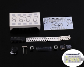 DIY Kit LED Electronic Clock Automatic Control Creative Desktop Electronic Clock DC 4.5-5.5V