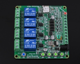 DC 12V 2.4G IoT Wireless Transceiver 4Bit WIFI Intelligent Controller Switch 10A Relay Module 4-Channel APP Control