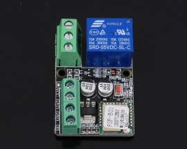 DC 12V 2.4G IoT Wireless Transceiver WIFI Intelligent Controller Switch 10A Relay Module APP Control