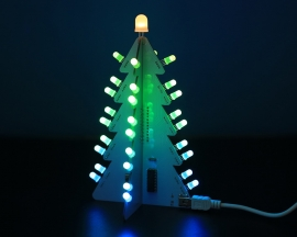 DIY Kit 3D Xmas Tree RGB Flash LED Circuit Colorful Christmas Trees LED Soldering Practice Kit DC 4.5V~5.5V