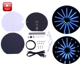 RGB LED Audio Visualizer Music Spectrum Display DIY Kit Music Indicator