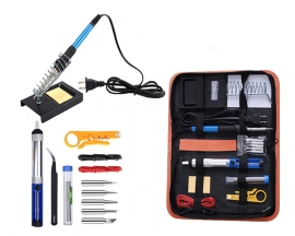 AC 110V 60W Soldering Iron Kit 14-in-1 Adjustable Temperature Soldering Iron