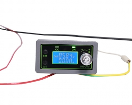 DC-DC 50V 5A Adjustable Automatic Buck Power Supply Module CCCV Step Down Voltage Converter LCD Display Voltage Monitor